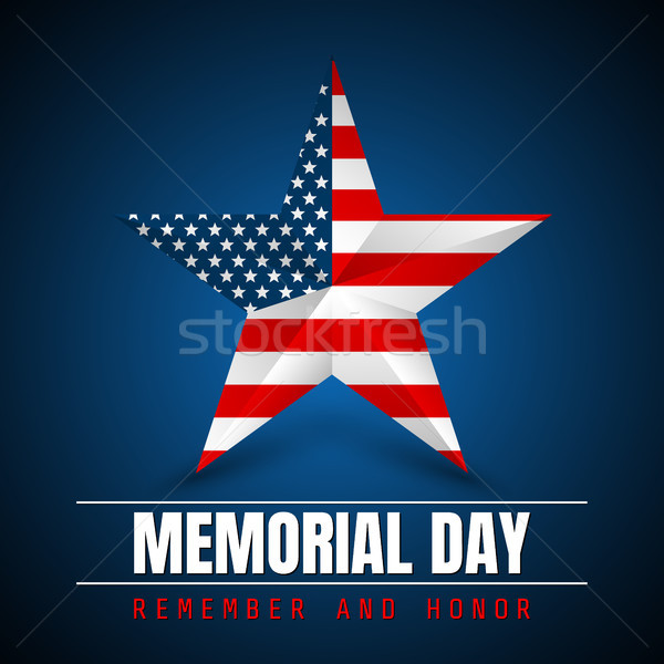 Memorial Day with star in national flag colors Stock photo © olehsvetiukha