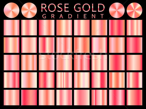 Rose Gold background texture vector icon seamless pattern. Light, realistic, elegant, shiny, metalli Stock photo © olehsvetiukha