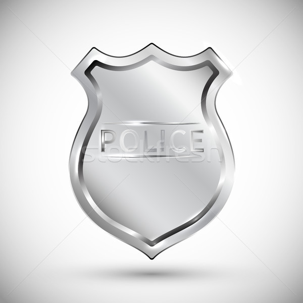 police badge vector illustration isolated on white background EPS10. Transparent objects used for sh Stock photo © olehsvetiukha