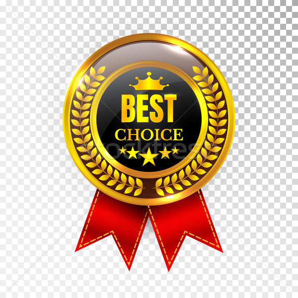 Gold Best Choice Label Illustration Golden Medal Label Icon Seal Sign Isolated on Transparent Backgr Stock photo © olehsvetiukha