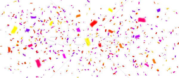 colorful confetti on white background, vector illustration Stock photo © olehsvetiukha
