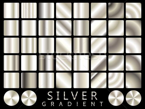 Stockfoto: Zilver · textuur · vector · icon · licht
