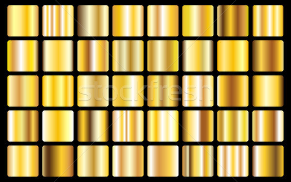 Gold background texture vector icon seamless pattern. Light, realistic, elegant, shiny, metallic and Stock photo © olehsvetiukha