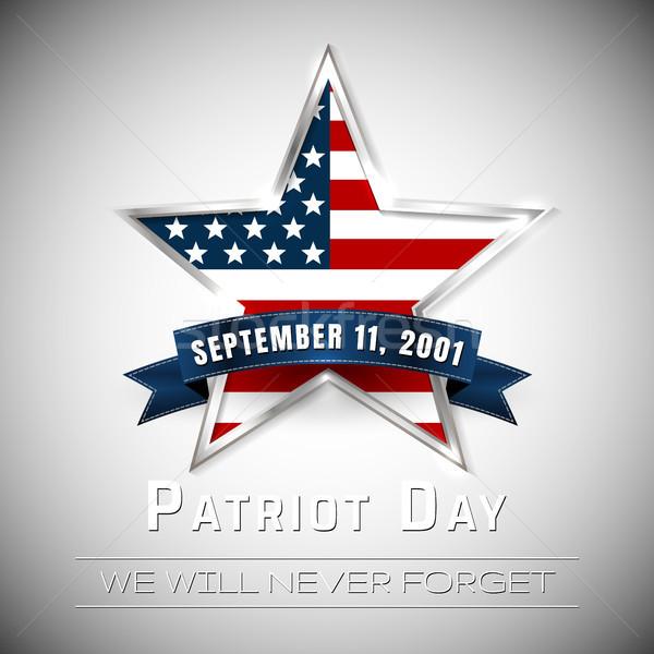 Patriot Day 9.11 digital sign with star. vector illustration Stock photo © olehsvetiukha