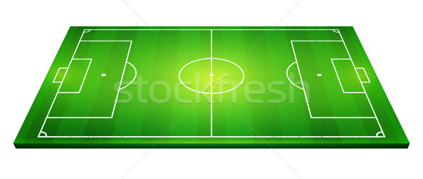 Stock photo: vector illustration of football field, soccer field