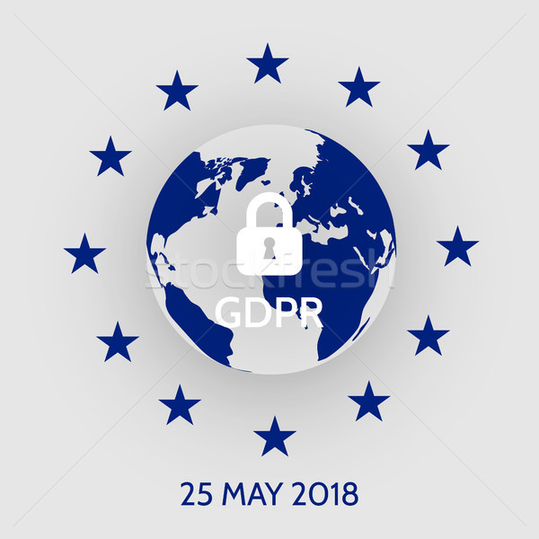 EU General Data Protection Regulation. eu gdpr vector illustration Stock photo © olehsvetiukha