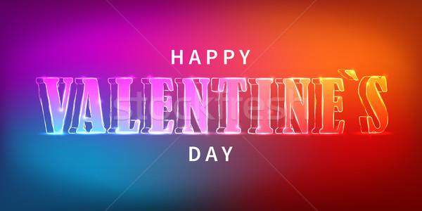 Feliz día de san valentín eléctrica vector banner Foto stock © olehsvetiukha