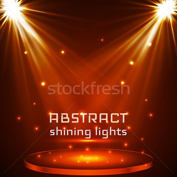 Etapa terreno iluminación magia luz naranja Foto stock © olehsvetiukha