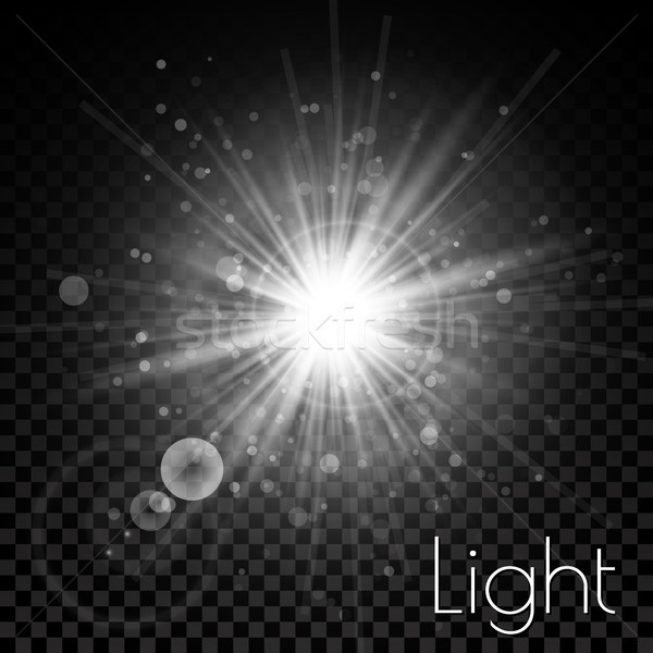 Star burst with sparkles. Light effect. Transparent glitter texture Stock photo © olehsvetiukha