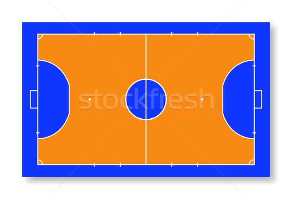 Futsal court or field top view vector illustration Stock photo © olehsvetiukha