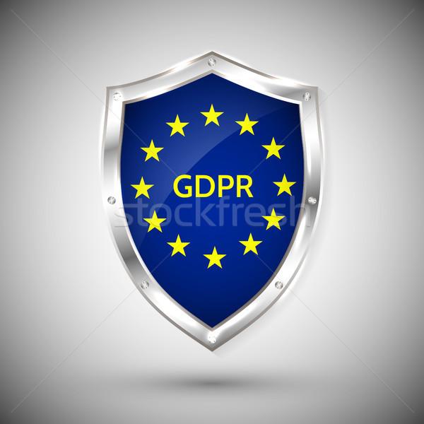 Général protection des données réglementation carte star Photo stock © olehsvetiukha
