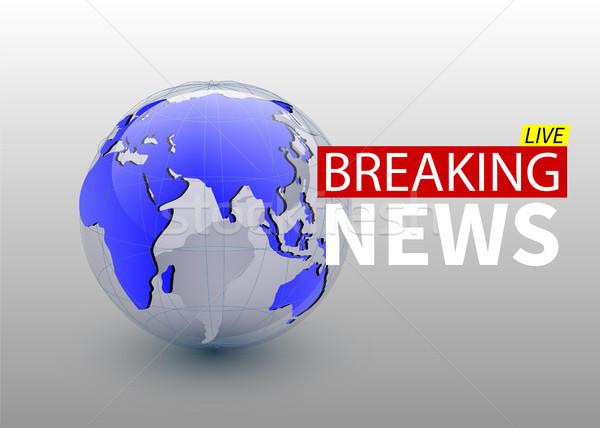 Rendkívüli hírek világ hírek bolygó tv terv Stock fotó © olehsvetiukha