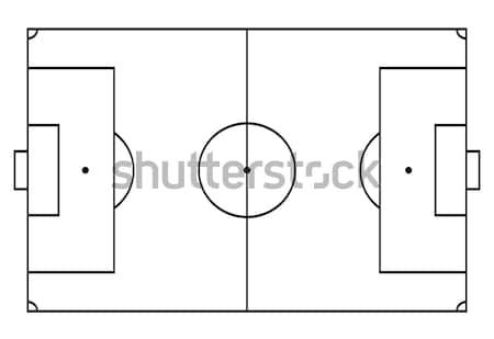 Futball futball bíróság sport vonal művészet Stock fotó © olehsvetiukha