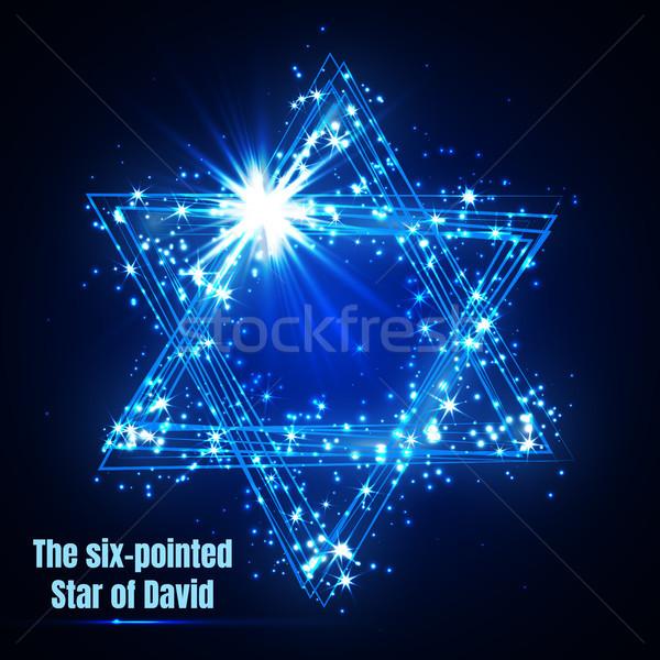 Сток-фото: звездой · синий · магия · вектора · счастливым