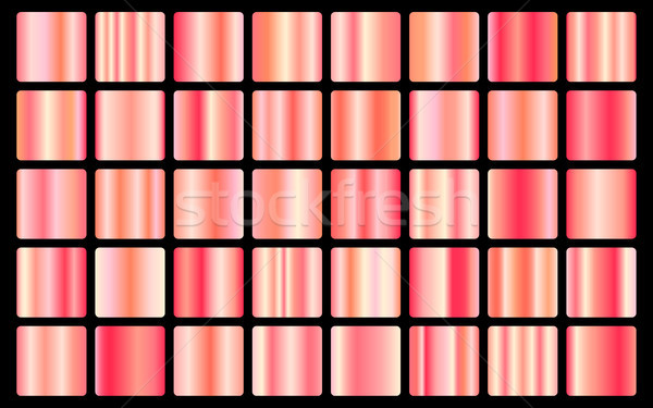 Stock photo: Rose Gold background texture vector icon seamless pattern. Light, realistic, elegant, shiny, metalli