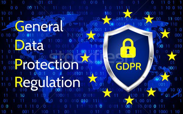 EU General Data Protection Regulation. eu gdpr vector illustration Stock photo © olehsvetiukha