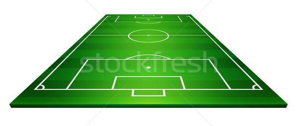 Futballpálya futballpálya futball sport fény háttér Stock fotó © olehsvetiukha