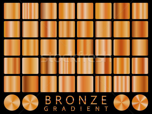Bronze background texture vector icon seamless pattern. Light, realistic, elegant, shiny, metallic a Stock photo © olehsvetiukha
