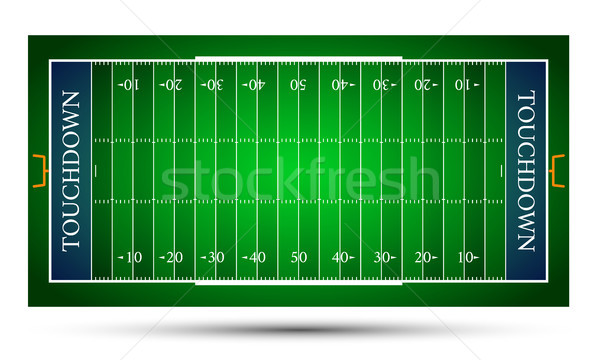 detailed illustration of an American Football fields, eps10 vector Stock photo © olehsvetiukha
