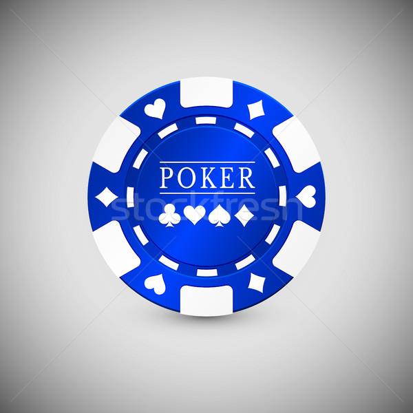 Azul casino chip icono signo verde Foto stock © olehsvetiukha