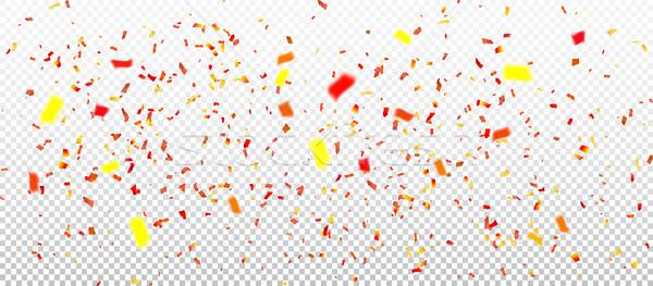 colorful confetti on transperent background Stock photo © olehsvetiukha