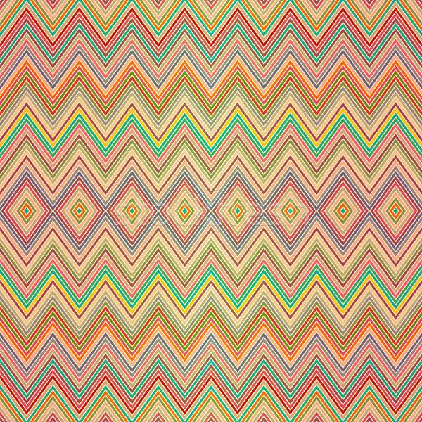 Végtelenített színes cikcakk minta végtelen minta színes Stock fotó © OlgaDrozd
