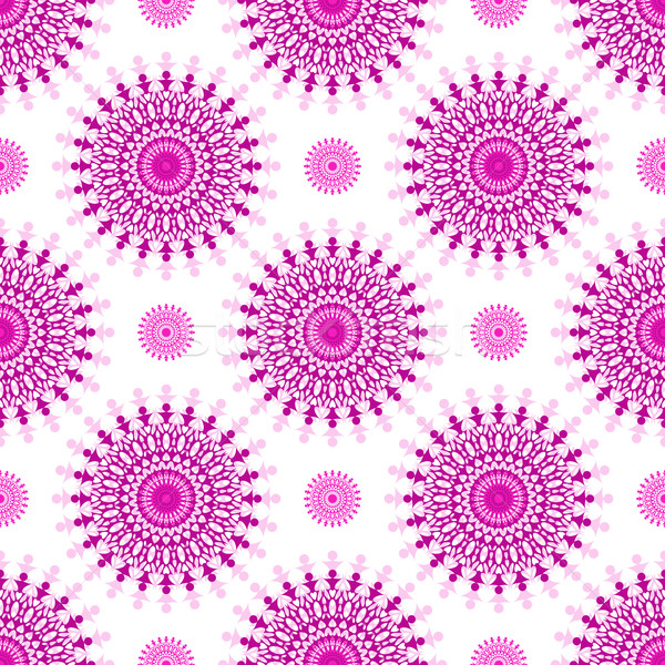 Sin costura blanco vintage patrón púrpura Foto stock © OlgaDrozd