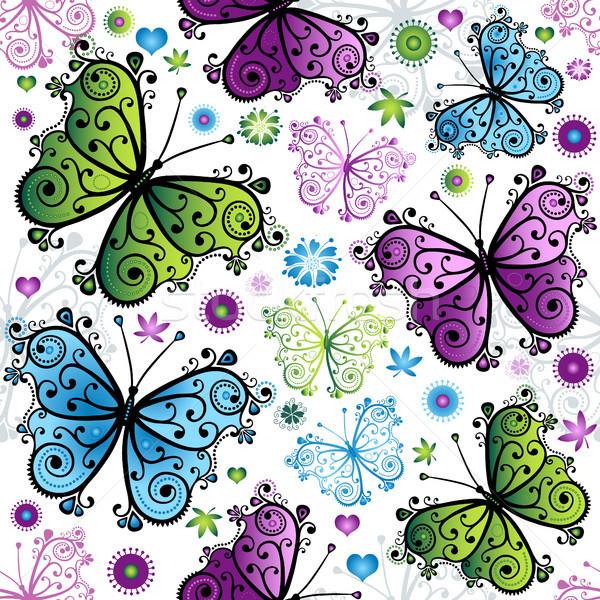 Sin costura primavera floral patrón brillante colorido Foto stock © OlgaDrozd