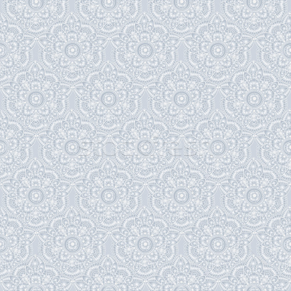 Seamless silvery vintage pastel pattern Stock photo © OlgaDrozd