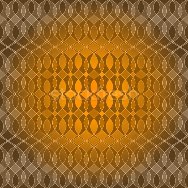 Bezszwowy złoty wzór fali fali przezroczysty wzór Zdjęcia stock © OlgaDrozd