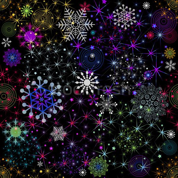 Seamless colorful christmas pattern Stock photo © OlgaDrozd