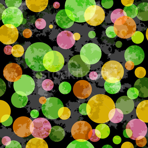 Seamless grunge pattern with colorful balls Stock photo © OlgaDrozd