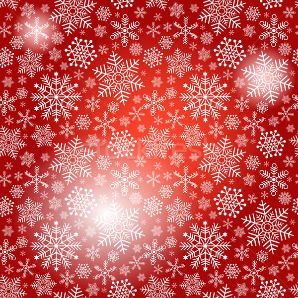 Seamless red christmas pattern Stock photo © OlgaDrozd