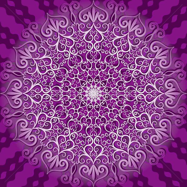 Decorativo padrão branco violeta vetor Foto stock © OlgaDrozd