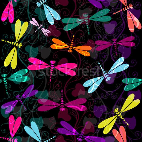Sem costura escuro colorido padrão vintage Foto stock © OlgaDrozd