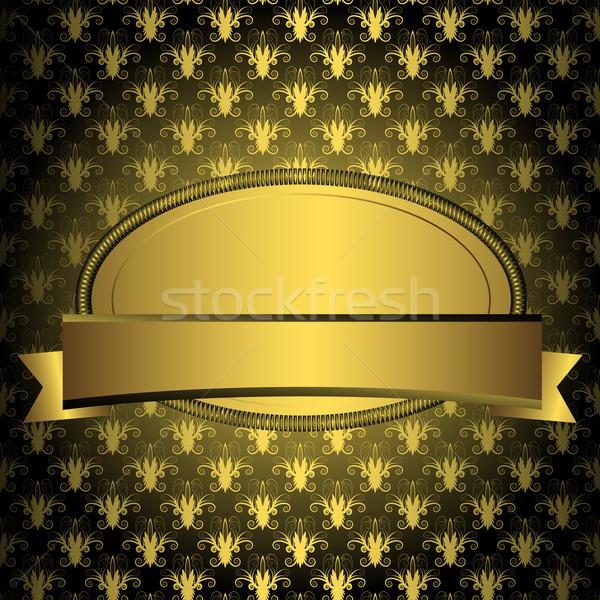 Ovale or cadre ruban vintage noir Photo stock © OlgaDrozd