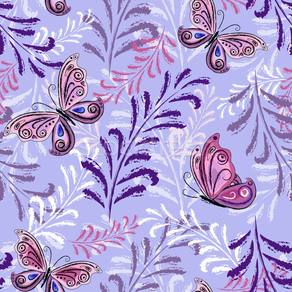 Gentle violet seamless floral pattern Stock photo © OlgaDrozd