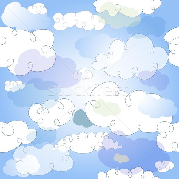 Сток-фото: пастельный · полупрозрачный · облака · вектора · прибыль · на · акцию