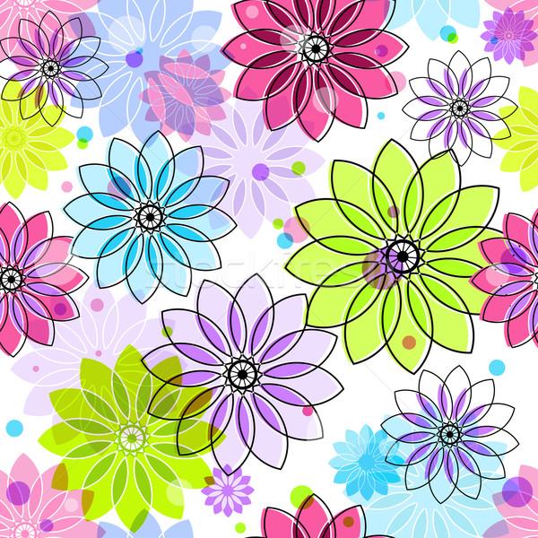 Sin costura colorido floral patrón vintage Foto stock © OlgaDrozd