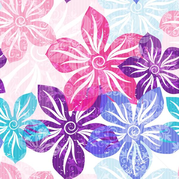 Floral modèle printemps pastel Photo stock © OlgaDrozd