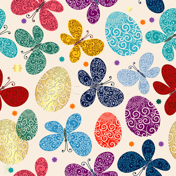Easter vivid seamless pattern  Stock photo © OlgaDrozd