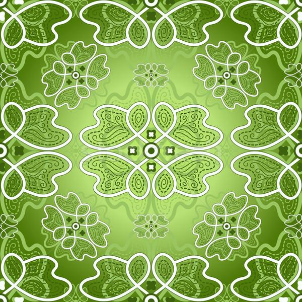 Floral green pattern Stock photo © OlgaDrozd