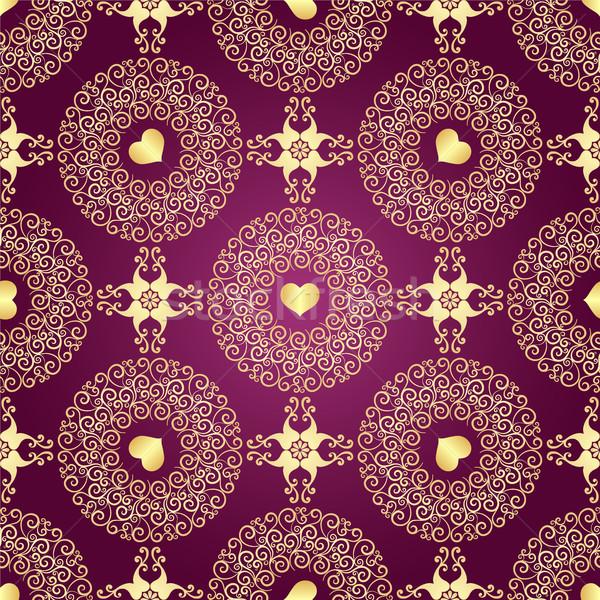 Vintage Purple градиент кольцами Сток-фото © OlgaDrozd