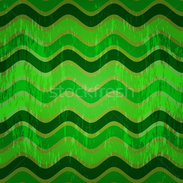 Seamless pattern with green waves Stock photo © OlgaDrozd
