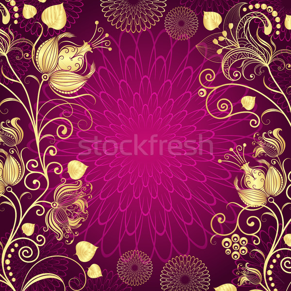 Purple vintage frame Stock photo © OlgaDrozd