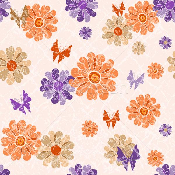 Pink grunge seamless spotty pattern Stock photo © OlgaDrozd