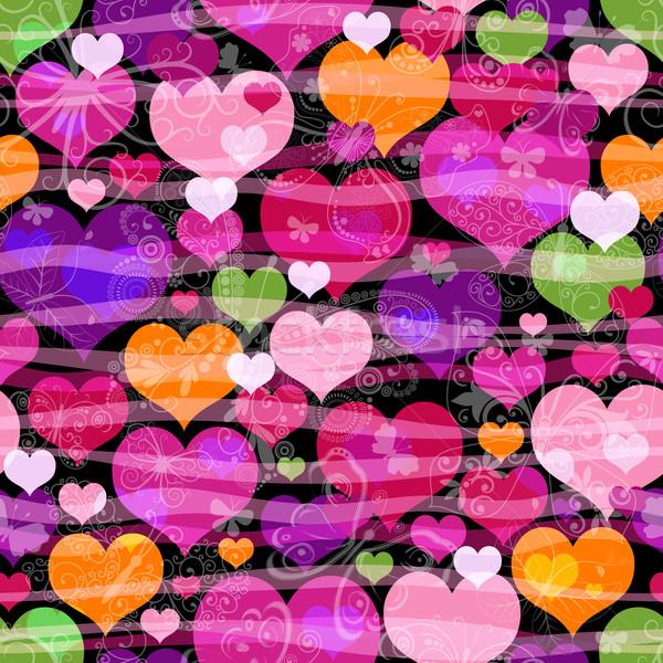 Motley seamless valentine pattern  Stock photo © OlgaDrozd