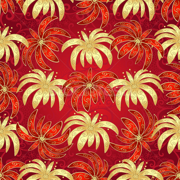Vintage seamless pattern with flowers Stock photo © OlgaDrozd