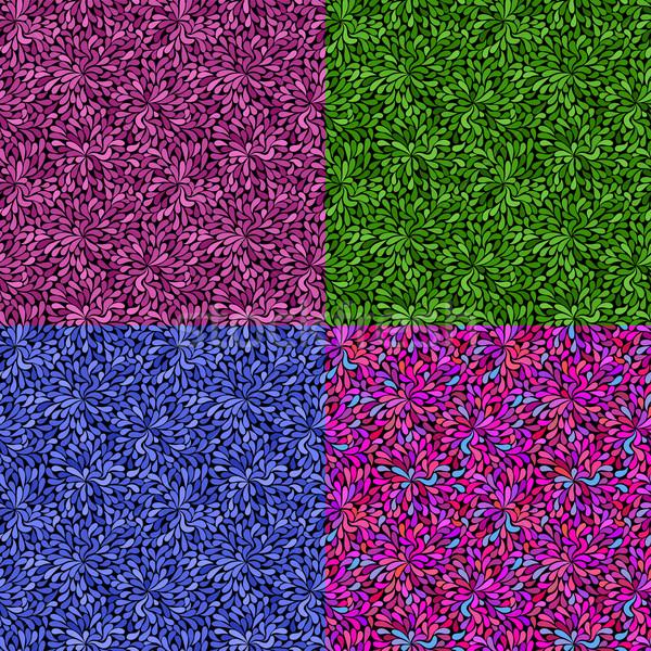 Szett végtelenített textúra színes vektor eps Stock fotó © OlgaDrozd