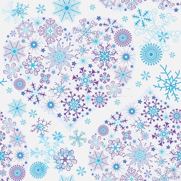 Сток-фото: бесшовный · белый · снега